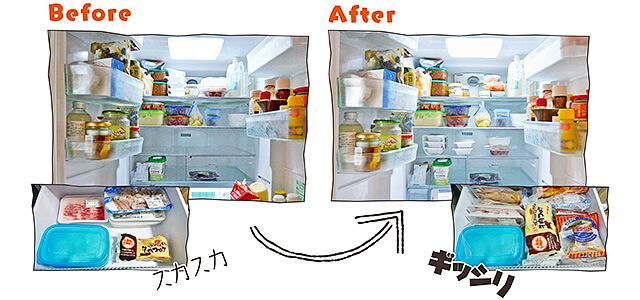 冷蔵庫・冷凍庫の詰め方