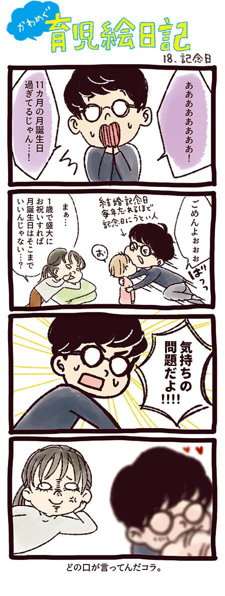 4コマまんが育児絵日記18 記念日